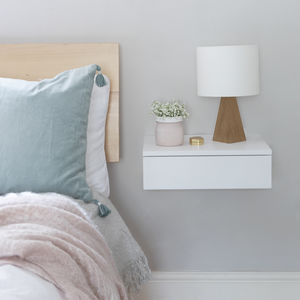 Floating Bedside Drawer - shelves