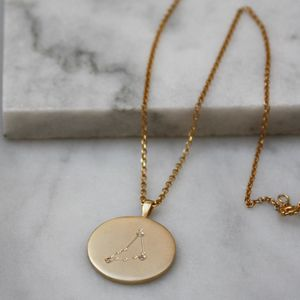 Constellation Necklace With Diamonds Capricorn Sign - lust list for her