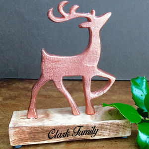 Family Copper Stag Decoration - decorative accessories