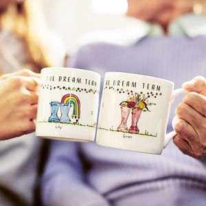 Personalised Set Of Welly Boot Family Mugs - shop by interest