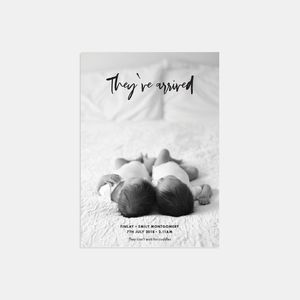 20 Just Landed Photo Birth Announcement Thank You Cards