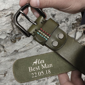 Personalised Men's Leather Belt - belts