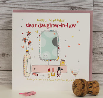 Daughter/ Son In Law Birthday Card