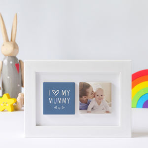 Personalised Framed 'I Love My Mummy' Photo Tile Gift