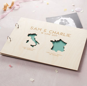 Personalised Country Destination Photo Album