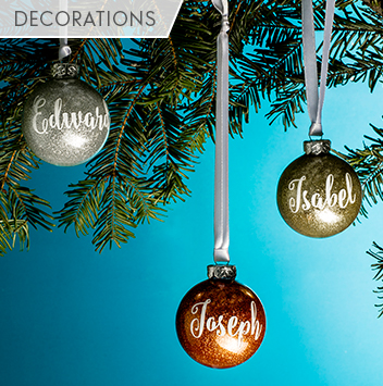 unique and personalised christmas decorations