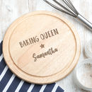 Personalised 'Master Baker' Baking Board