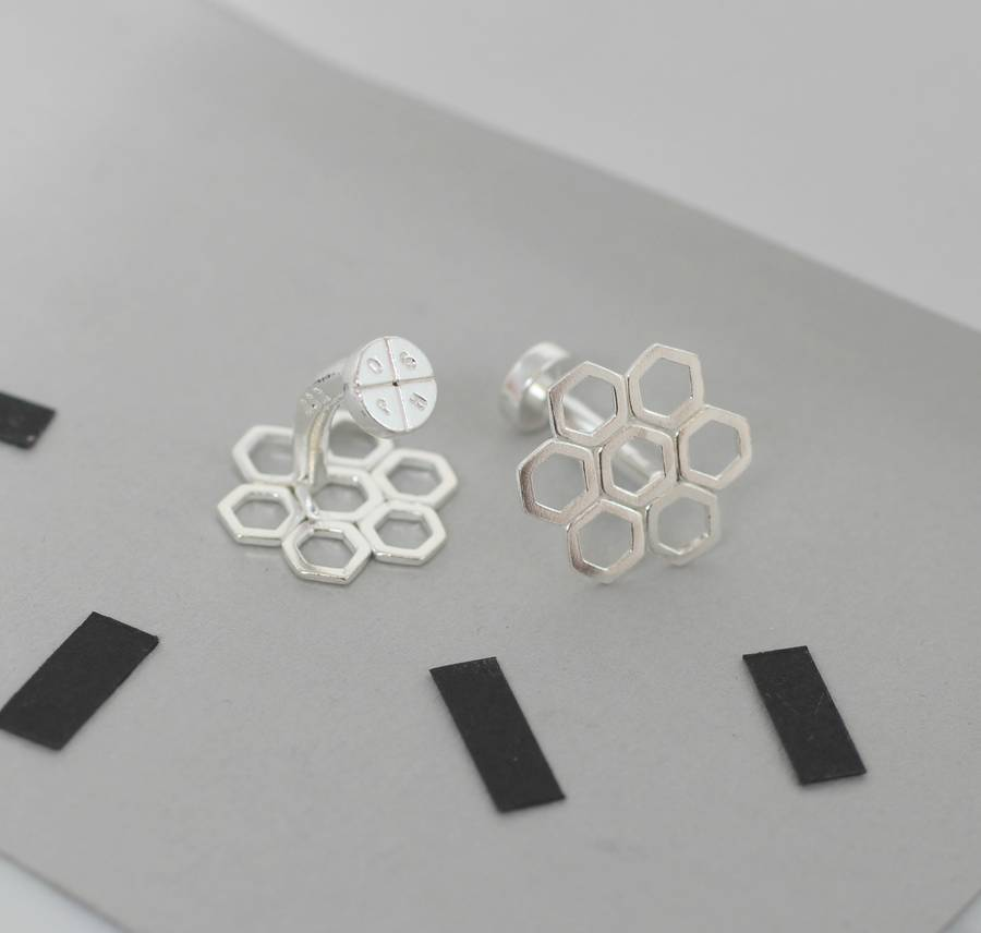 Personalised Honeycomb Cufflinks