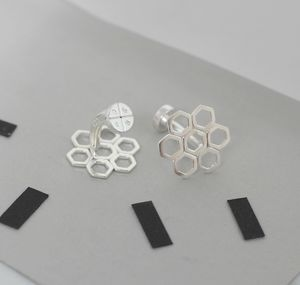 Personalised Honeycomb Cufflinks - men's accessories
