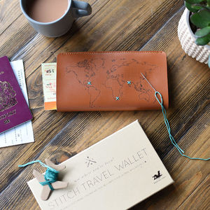 Stitch It Yourself Travel Wallet - best father's day gifts