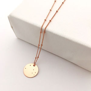 Rose Gold Zodiac Constellation Necklace - necklaces & pendants
