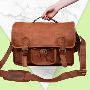 Personalised Leather Harvard Satchel - women's accessories