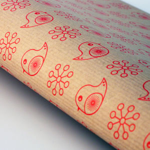 Jolly Robin Giftwrap Sheets Or Sets - cards & wrap