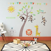 Pastel Jungle Animal Wall Stickers - baby & child