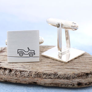Car Cufflinks With Personalised Secret Message - men's accessories