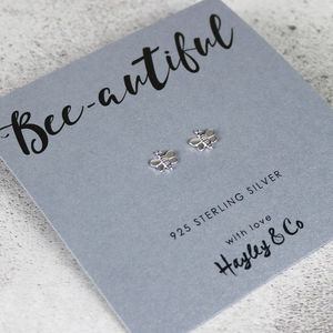 Bee Sterling Silver Earrings