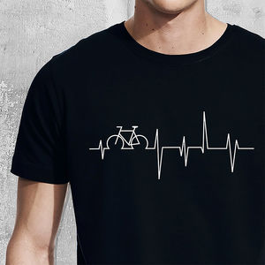 Personalised Heartbeat Hobby T Shirt - 40th birthday gifts