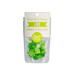 Lime Hard Rock Candy In A Bag