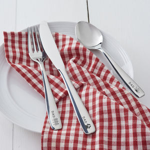 Personalised Adventure Cutlery Set For Dad - garden sale