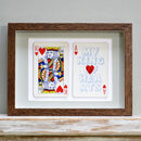King Of Hearts Vintage Playing Card Print