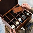 Personalised Leather Jewellery And Watch Box Deluxe