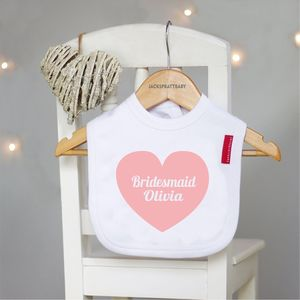 Personalised Bridesmaid Bib