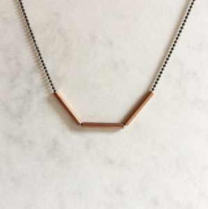 Copper Dash Necklace