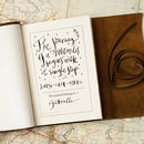 Personalised Handmade Brown Leather Travel Journal