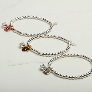 Personalised Thank You Triangle Charm Bracelet