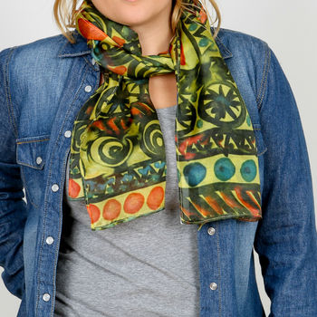 Celtic Tribal Silk Scarf