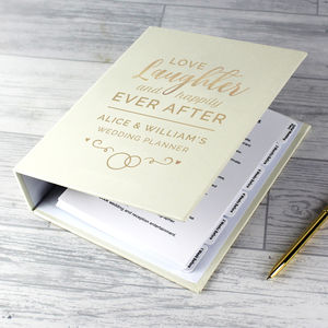 Personalised Wedding Love Laughter Planner