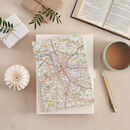 Personalised Map Location Travel Journal Notebook Gift