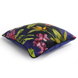 Tropical Hothouse Silk Botanical Luxury Cushion - cushions