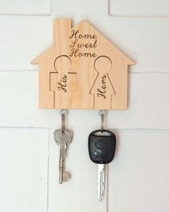 Keyhouse Keyring Holder With Two Or Three Keyrings - mens