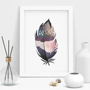 Decorative Watercolour Feather Printed