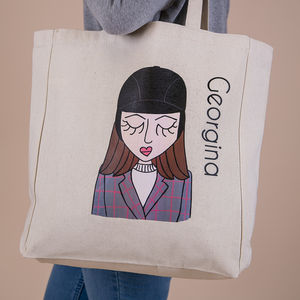 'Miss Horse Riding Chic' Personalised Tote - bags & purses