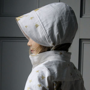 Antique Linen Sun Bonnet - children's accessories