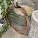 Rose Gold Mirror Lockdown Poem Keepsake Decoration