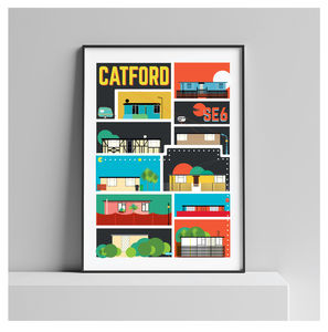 Catford London. Excalibur Estate Prefab Maze Art Print