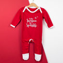 Christmas Sparkle Glitter Baby Grow