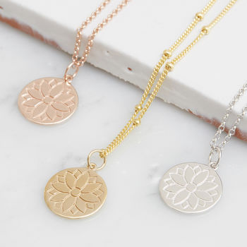 Purity Mandala Coin Necklace For Health And Happiness