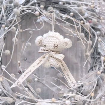 Personalised Baby Lamb Christmas Decoration