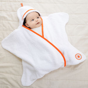 Cotton Towelling Star Baby Wrap