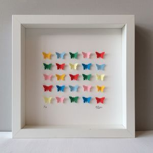Personalised Rainbow Butterflies Box - personalised