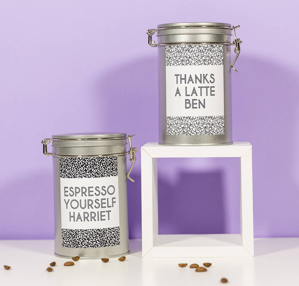 Personalised Pattern Coffee Gift Tin