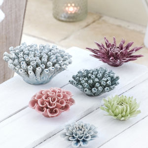 Porcelain Flower Coral Decorations - flowers & plants