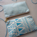 'Zig Zag Dot' Screenprinted Fabric Pencil Case