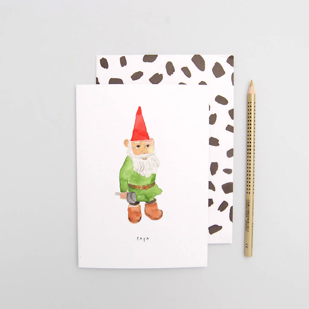 papa gnome father\'s day card by blank inside | notonthehighstreet.com