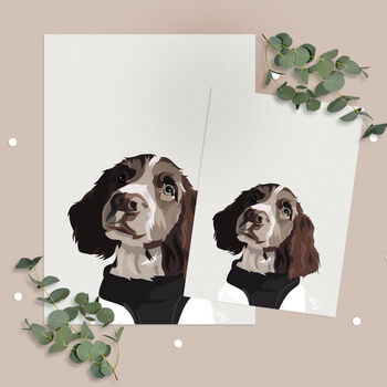 Extra Prints For Personalised Pet Portrait Print