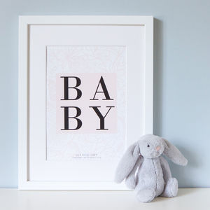 Personalised Christening Print - top 50 christening gifts